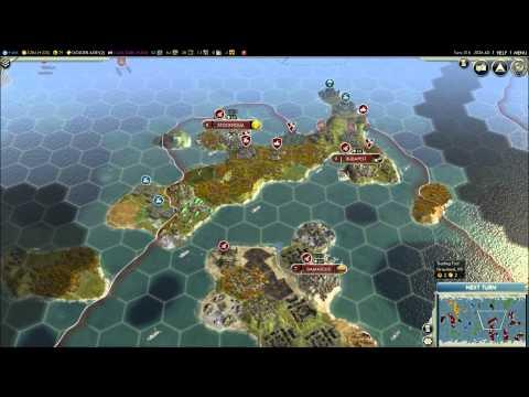 Civilization V - Episode 2, part 1 - England vs Songhai & Babylon |