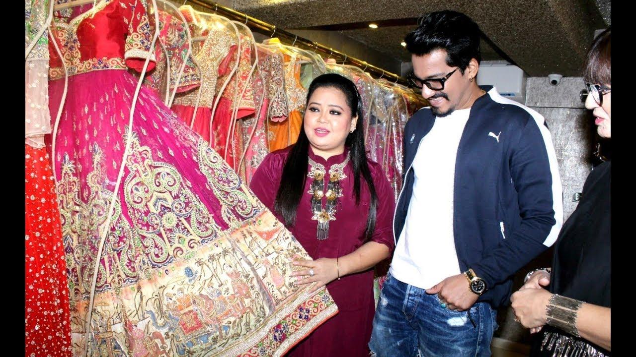 Singh Bharti Shopping Husband Wedding With Harsh