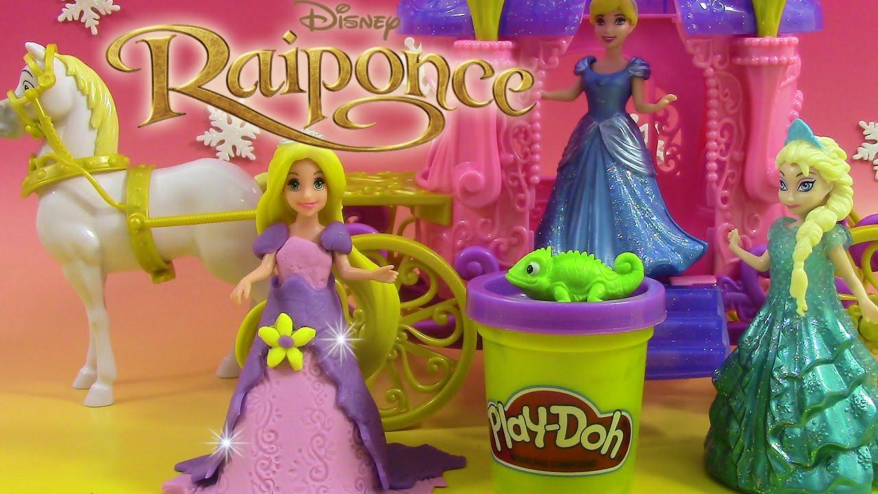 magiclip play doh p 226 te 224 modeler princesse raiponce carrosse royal rapunzel carriage