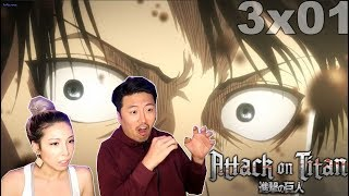 ITS FINALLY HERE!! Attack On Titans Season 3 Episode 1 REACTION!