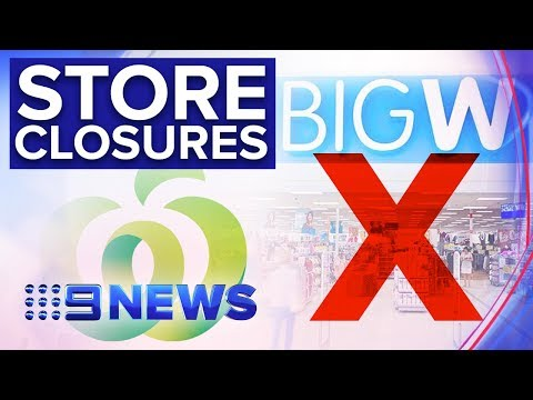 Job Fears As Woolies Names First Of 30 Big W Stores To Close   Nine News Australia