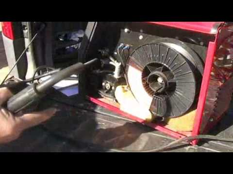 Lincoln MIG Welder No Wire Feed - YouTube
