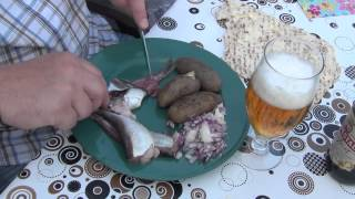 The traditional Swedish way to eat surströmming