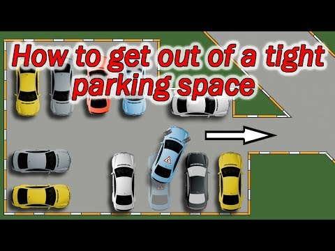 How to get out of a tight parking space and not to hit other cars