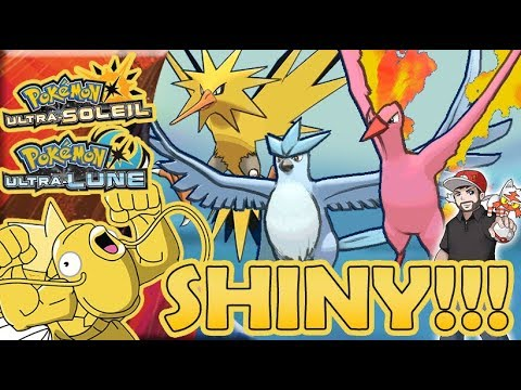 Le fameux trio legendaire electhor sulfura artikodin shiny youtube - Legendaire shiney ...