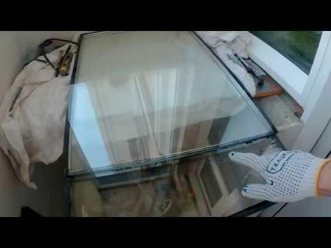 Как разрезать стеклопакет
