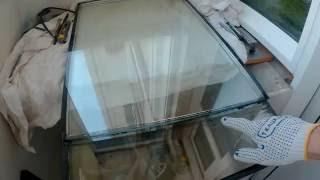 Как обрезать стеклопакет без полной расклейки. Своими руками.(, 2016-06-27T18:41:09.000Z)