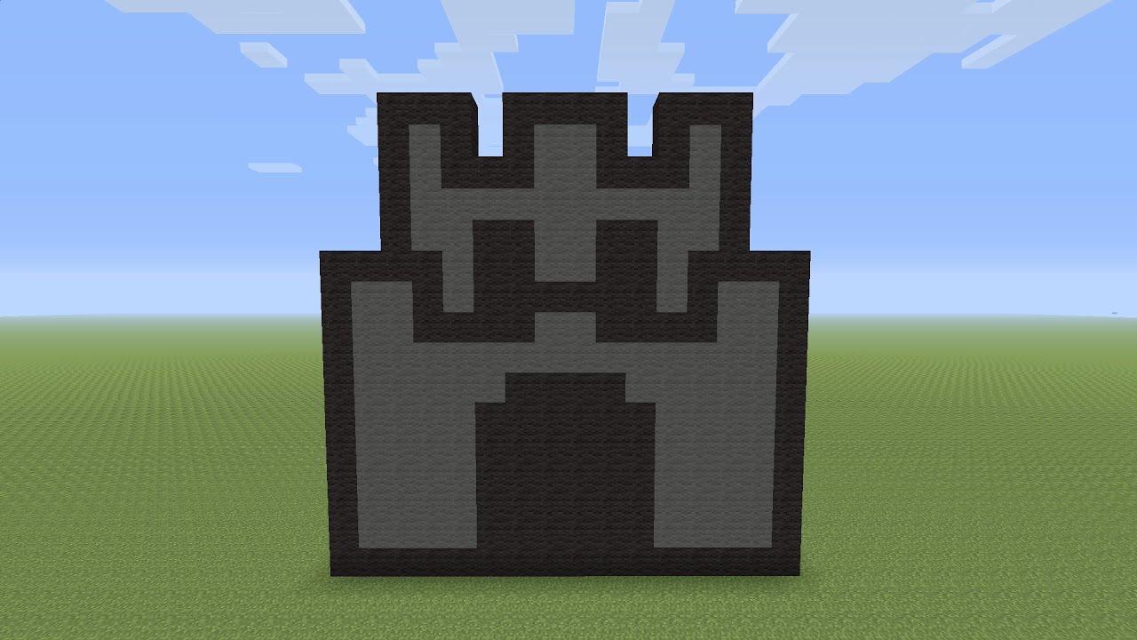 Captivating Minecraft Pixel Art   Mario Mini Castle   YouTube