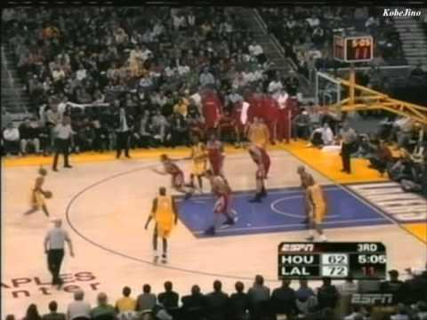 2004-05 Kobe Bryant 27pts 10assist vs Houston Rockets dunk on T-mac
