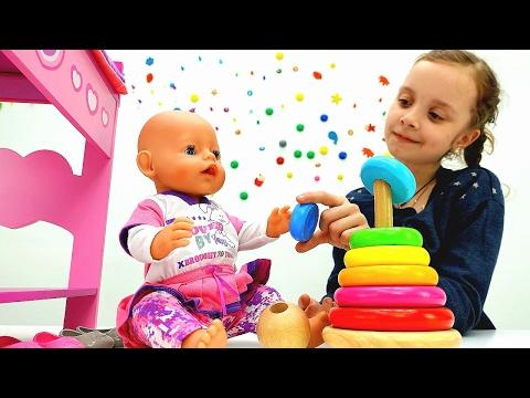 Видео кукла 👶 #БебиБон Эмили и Соня! Как мама: Уход и Игры с малышом! Видео игрушки #длядевочек