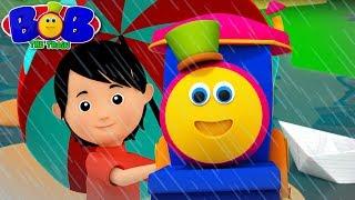 Rain Rain Go Away   Bob The Train Cartoons   Videos for Childrens