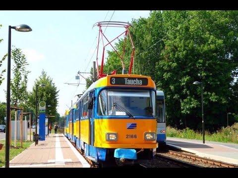 Lvb Straßenbahn Leipzig Linie 3 Nach Taucha Youtube