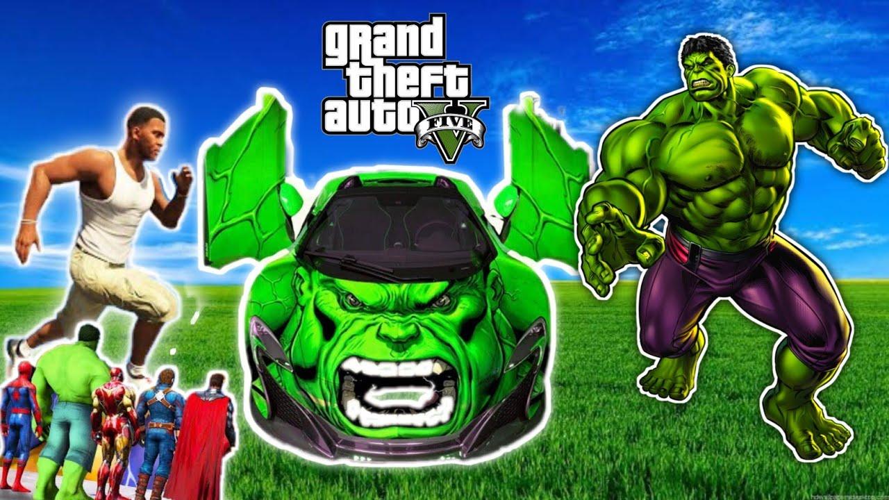 I Stolen Strongest God Cars From God Hulk in GTA5 [Hindi]   GTAV AVENGERS   A.K GAME WORLD