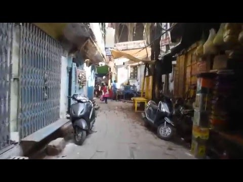Walking through the little alleyways of Varanasi