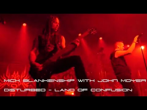 Mick Blankenship with John Moyer - Land of Confusion by Disturbed Cover