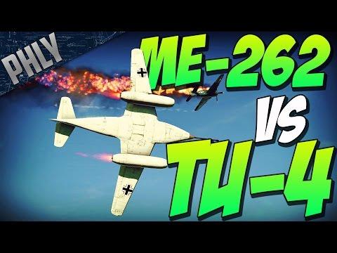 ME-262 50mm VS TU-4 RUSSIAN DEATH STAR! (War Thunder Jet Gameplay)