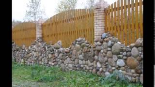 видео деревянный забор для палисадника