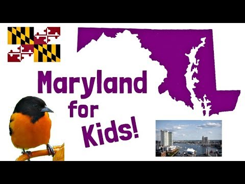 Maryland for Kids | US States Learning Video