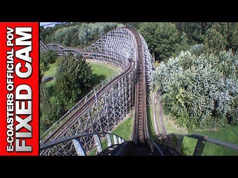 Robin Hood Walibi Holland - Roller Coaster POV On Ride Wooden Vekoma (Theme Park Netherlands)