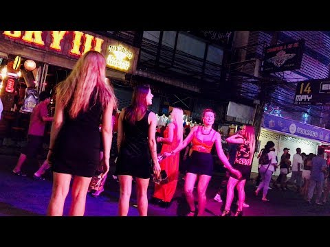 Walking Street, Pattaya Night Life - Thailand 4K HD