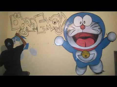 53+ Foto Grafiti Kamar Gambar Doraemon Paling Bagus