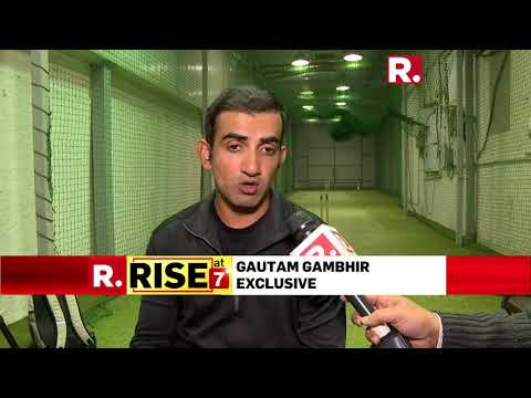 Gautam Gambhir speaks to Republic TV, says 'South Africa series a big challenge'