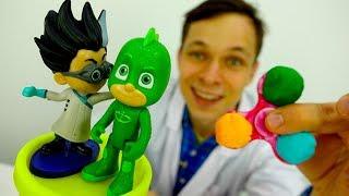 Игрушки Герои в масках. Видео для детей со спиннером