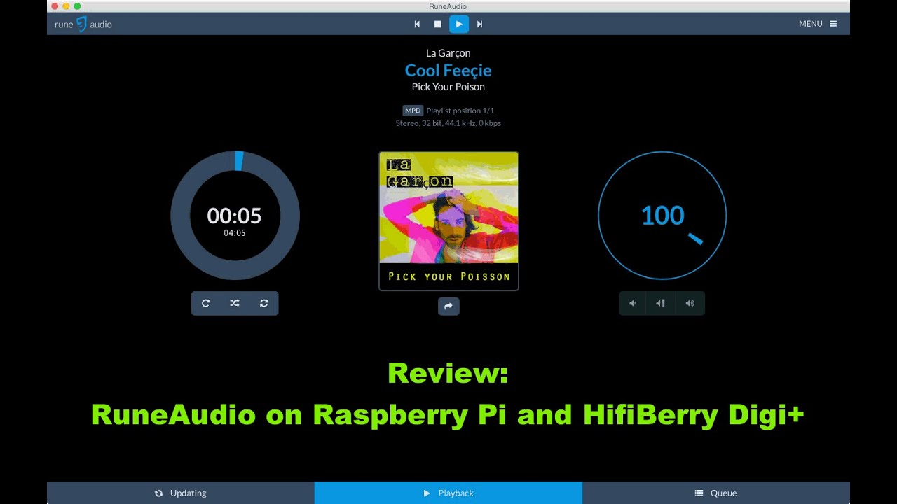 RuneAudio on Raspberry Pi and HifiBerry Digi+ PART 1