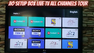 Jio Fiber Set Top Box All Channels Complete Tour With Channels list | Jio Fiber Set Top Box Live TV