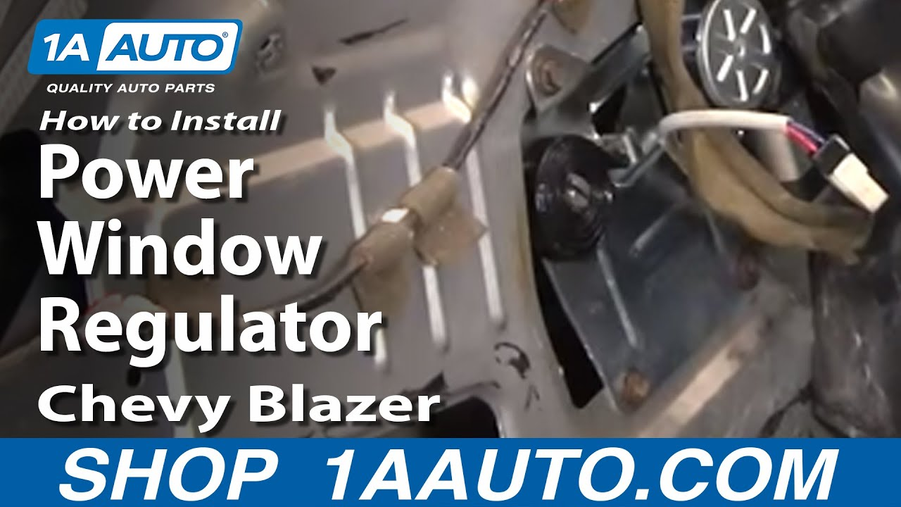 replace window regulator   chevy blazer