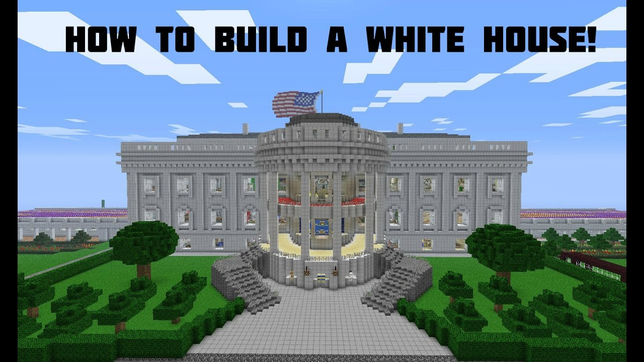 How To Build A White House In Minecraft Youtube