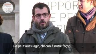 Benoît Thevenet, journaliste venu soutenir le départ de notre convoi médical pour Alep