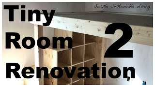 This has been a blast to put together and this loft is going to be awesome! Check out the second installment of the tiny room