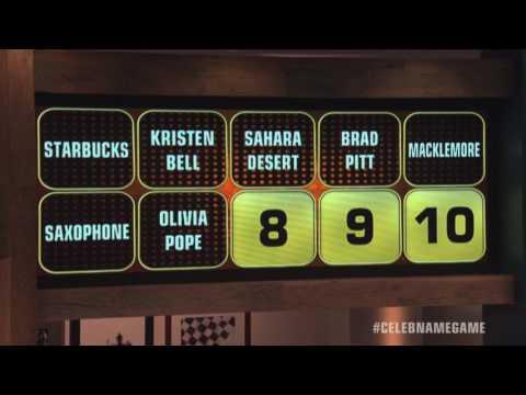 Lauren Ash & Eddie Kaye Thomas 20K Win  Celebrity Name Game
