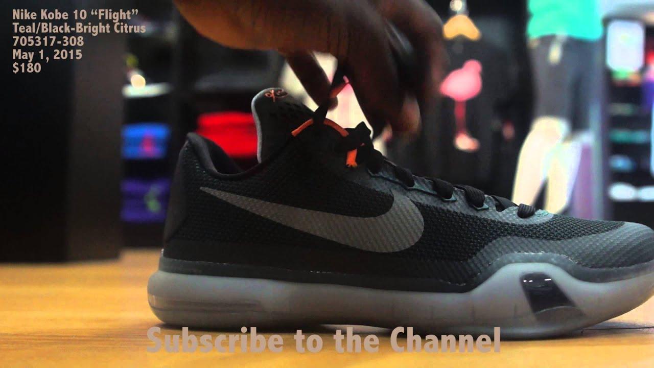 "a5b2b9749619 Nike Kobe 10 ""Flight"" - YouTube"