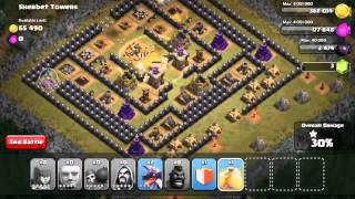 Strategi Menyerang Single Player Sherbet Tower Troops Town Hall 8