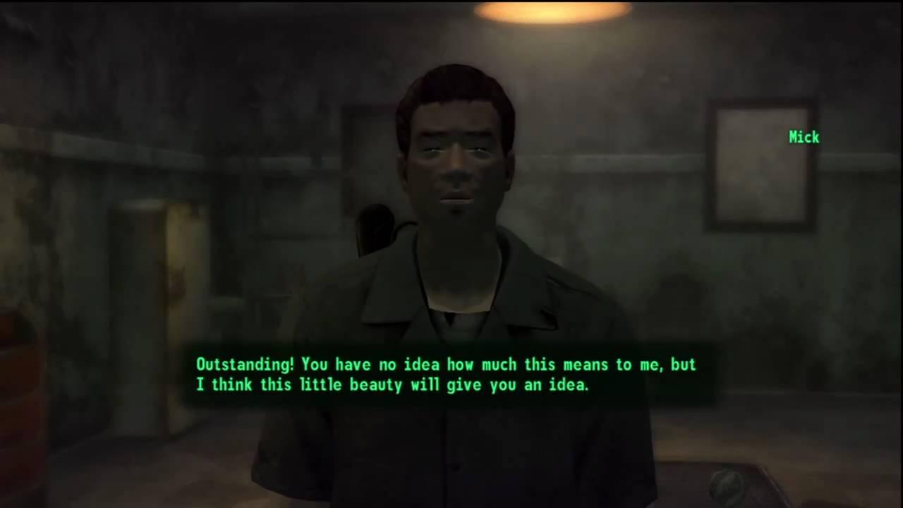 Fallout New Vegas Mick Gives The Pimp Boy 3billion Youtube