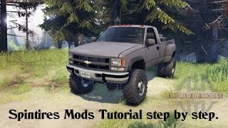 How to install vehicle mods to Spintires step by step.