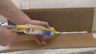 как наносить герметик в ванной  Правильное использование силиконового герметика
