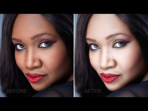 How To Whiten Or Lighten Skin In Photoshop - Change Face Color From Dark To White Tutorial