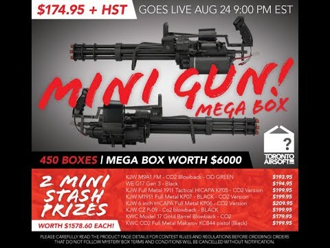 TORONTO AIRSOFT MINIGUN MEGA MYSTERY BOX X3 UNBOXING - DICE Airsoft