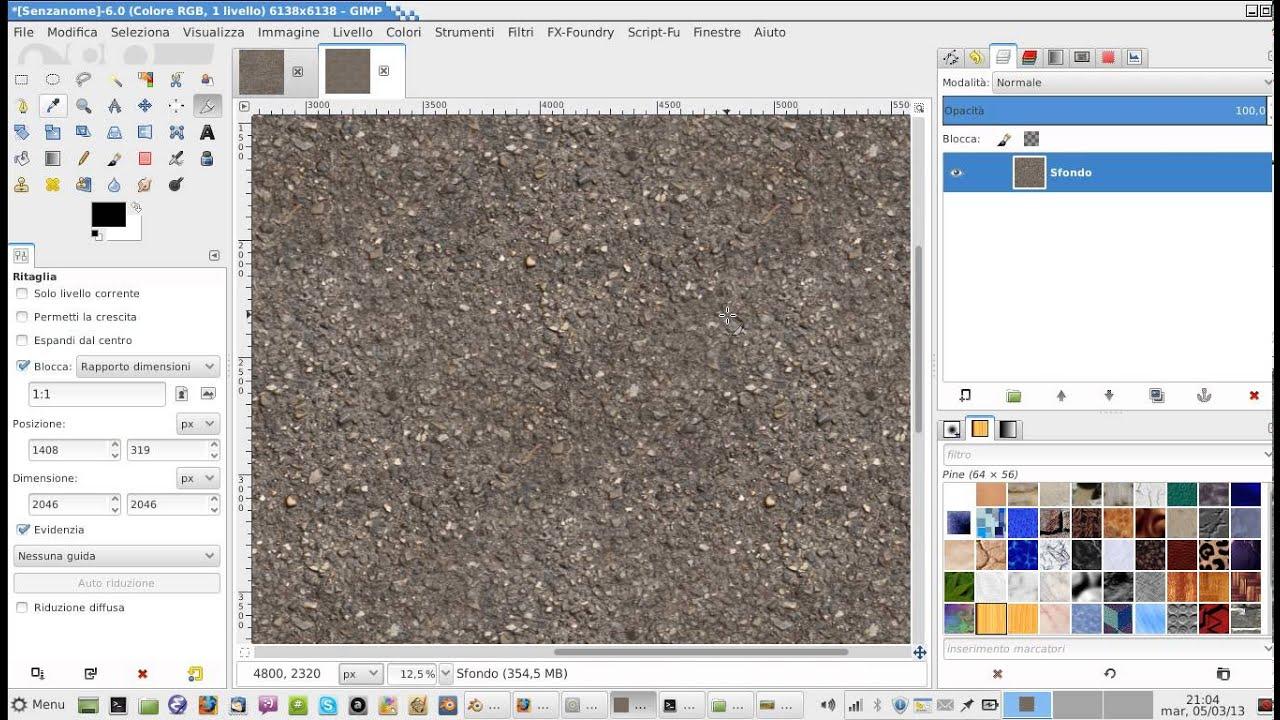 Realizzazione di texture con The Gimp - parte 1 - YouTube