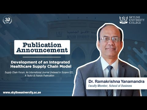 Publication Announcement - Development Of An Integrated Healthcare Supply Chain Model