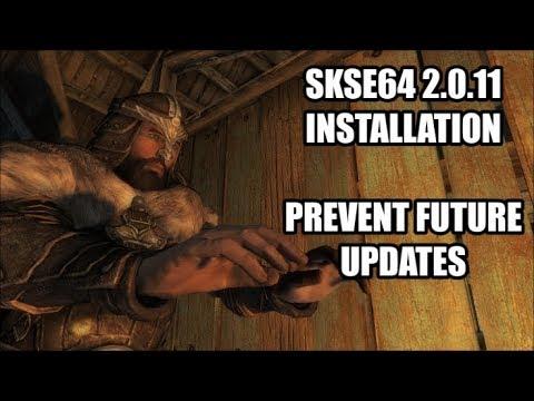 SKSE64 2 0 11 Installation | Prevent Future Updates