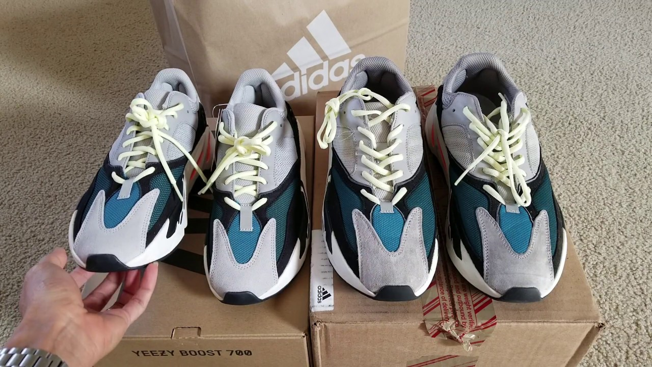 dd912b5445cc7 Legit Check! Real vs Fake Adidas Yeezy 700 OG Boost Comparisons! 9 ...