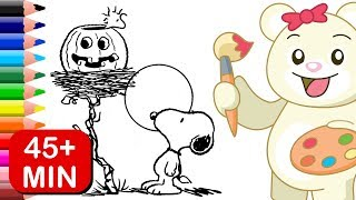 Peanuts Spooky Halloween Coloring Book | Charlie Brown, Snoopy, and More!