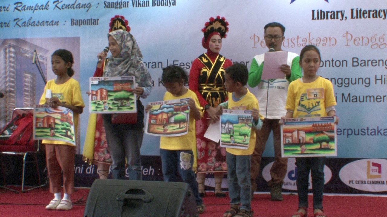 Pengumuman Pemenang Lomba Mewarnai Pada Perpusnas Expo 2017 Youtube