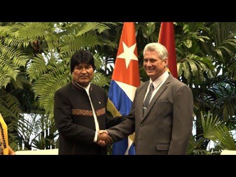 Evo Morales da su respaldo a Díaz-Canel en La Habana