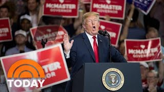 President Donald Trump Takes Aim At Late-Night Hosts At South Carolina Rally | TODAY