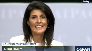 the days of israel bashing are over nikki haley aipac 2017 speech